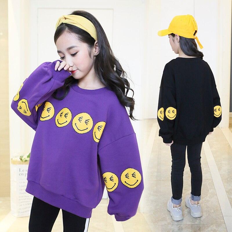 >Fashion Girls Sweatshirt <font><b>2020</b></font> <font><b>Spring</b></font> <font><b>New</b></font> Arrival Children Clothing Kids Clothes Sweatshirt Tops Tees T-shirts Costume 10 12 Year