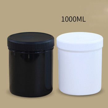 1000ML Empty plastic Cream Jar leakproof Liquid Food Cosmetic container with two Lids BPA Free 50PCS/lot