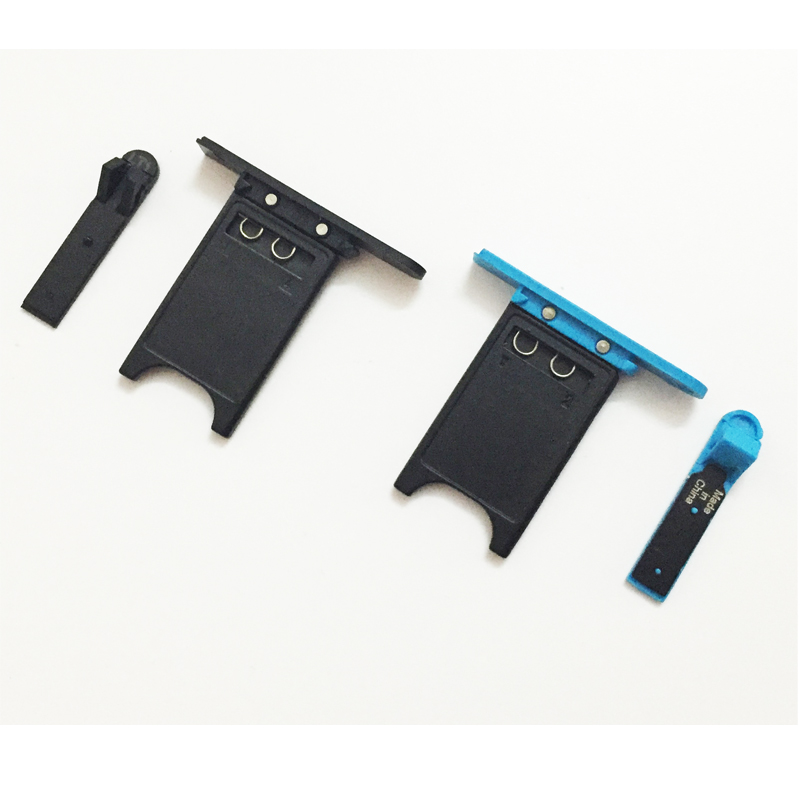 Black Red Blue SIM Card Tray + USB Door Cover For Nokia Lumia 800 Replacement Part