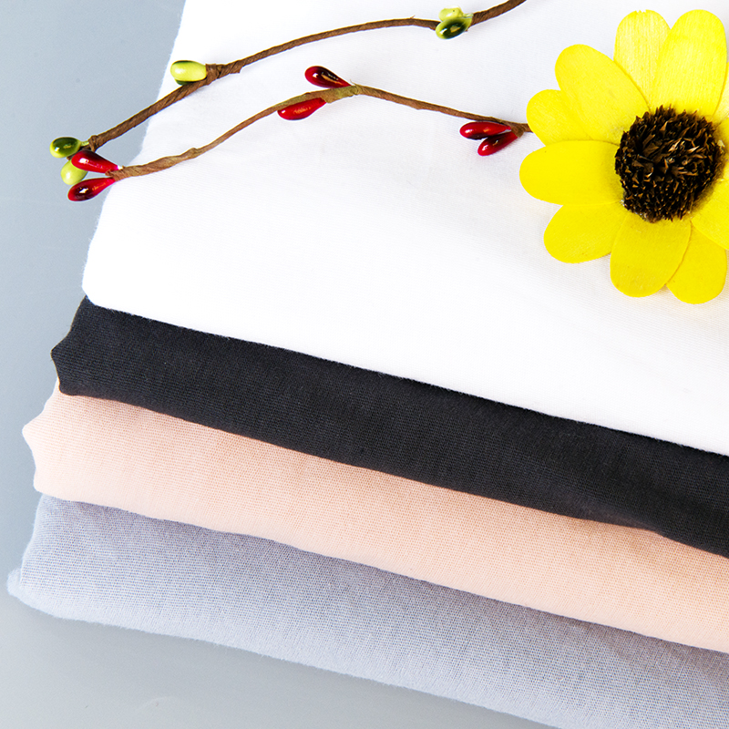 Combed 100% cotton fabric for Summer garments 125gsm thin fabric making t shirt 50*150cm/piece K302616