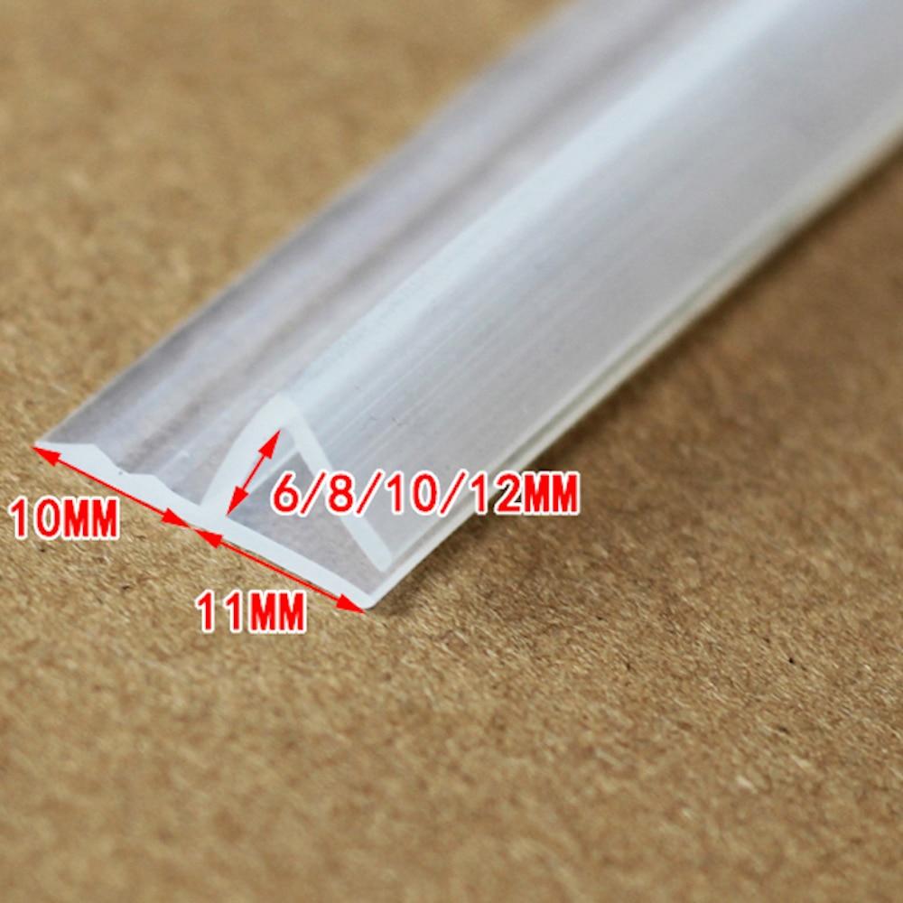 Silicone Seals Sliding Door Screen Shower Door Window Barn Bathroom Sealing 10mm Glass Fixture Accessories h 4.37m