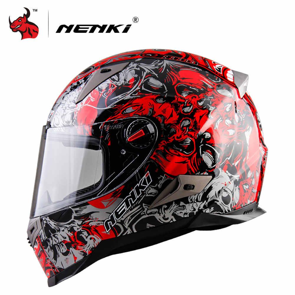 01d484da ... NENKI Motorcycle Helmet Men Moto Helmet ABS Material Motorcycle Riding Street  Bike Motor Racing Helmet ECE ...