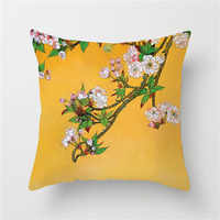 Fuwatacchi Flower Painting Cushion Cover Bird Tree Decor Throw Pillows Case Wedding Decoration Home Bed Decrative Pillows Cover