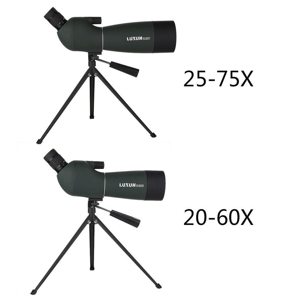 20 60x60/25 75x70 Spotting Scope Zoom Monocular Telescope Binoculars HD Outdoor Hunting Travel Waterproof Green Film Telescope-in Monocular/Binoculars from Sports & Entertainment    1