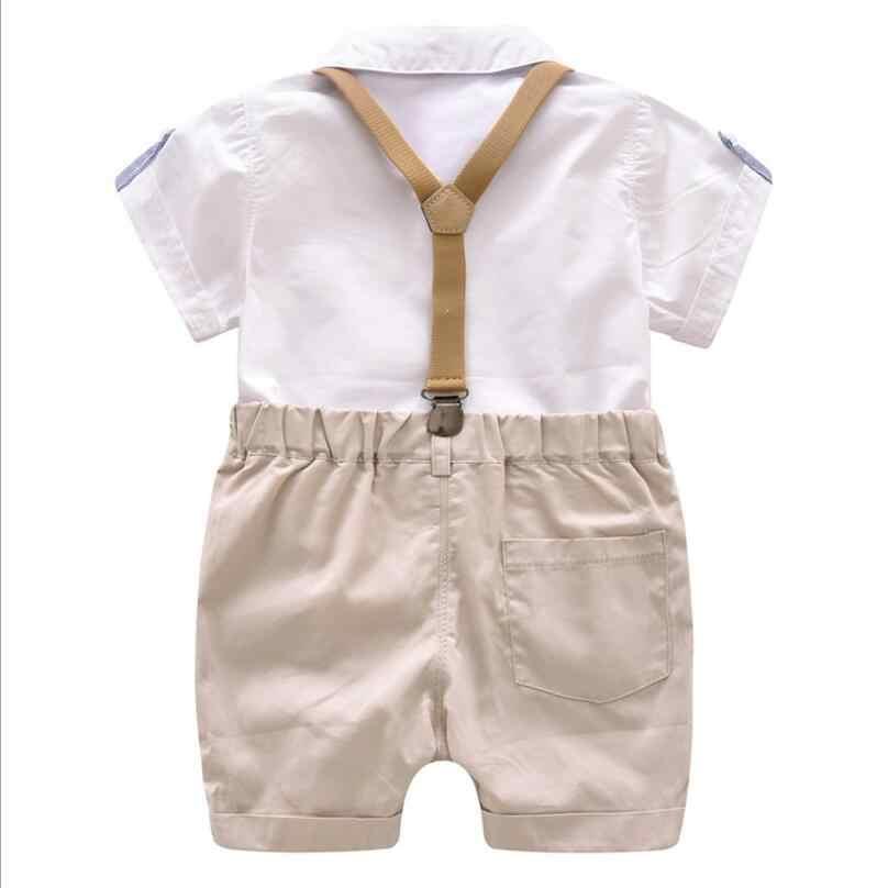 正式な子供服幼児ボーイズ服セット夏ベビースーツショーツ子供カラーウェディングパーティーコスチューム 1- 4 年