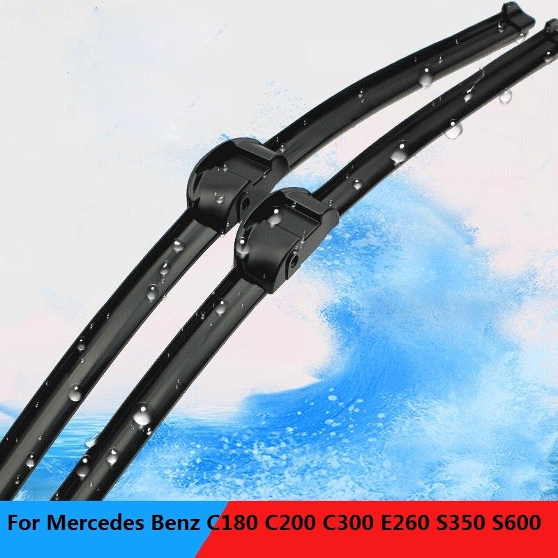 2 pièces/ensemble D'essuie-Glace Lames d'essuie-glace Spécial pour Mercedes c200 c230 c280 E260/300 GLK250 GLK300/350 S300 S450 s500 S600 Interface 3