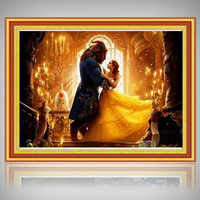 DIY diamond painting beauty and the Beast diamond embroidery with 5D drill diamond mosaic beauty Beast picture full rhinestones