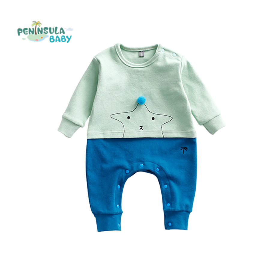 Baby Rompers Long Sleeve Baby Girl Boy Clothing Patchwork Jumpsuits Children Autumn Clothes Newborn Infant Cotton Baby Rompers strip baby rompers long sleeve baby boy clothing jumpsuits children autumn clothing set newborn baby clothes cotton baby rompers