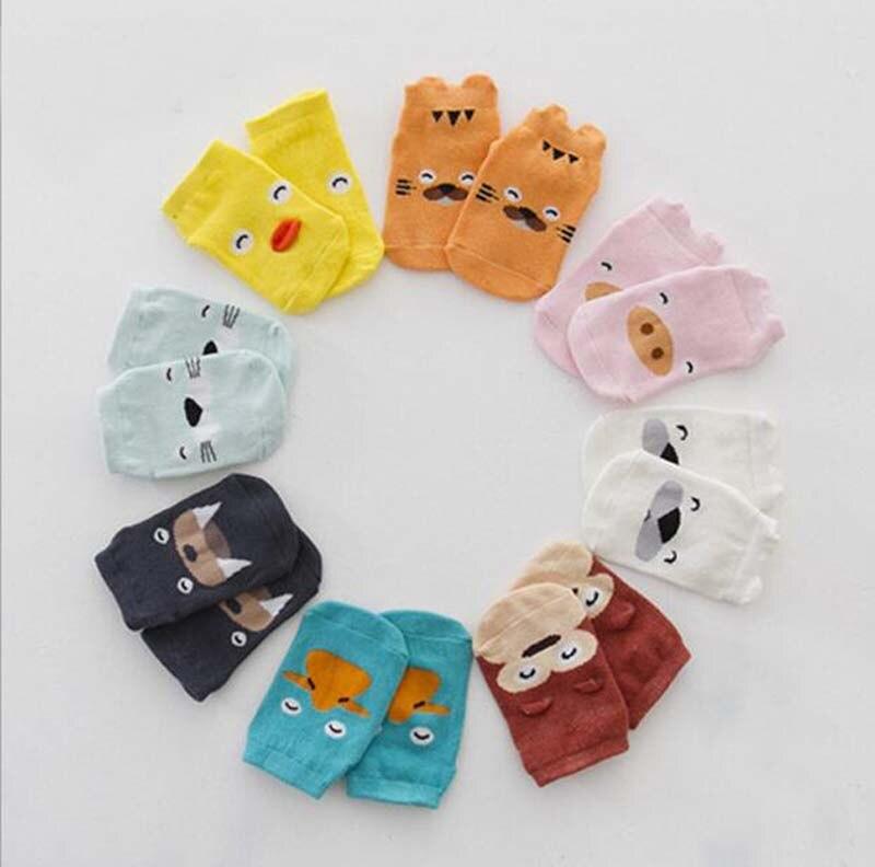 Newborn Toddler floor sock Baby Boy Girl Socks anti slip Cute Cartoon tiger/pig/dock Skid Resistance For newborns infantile