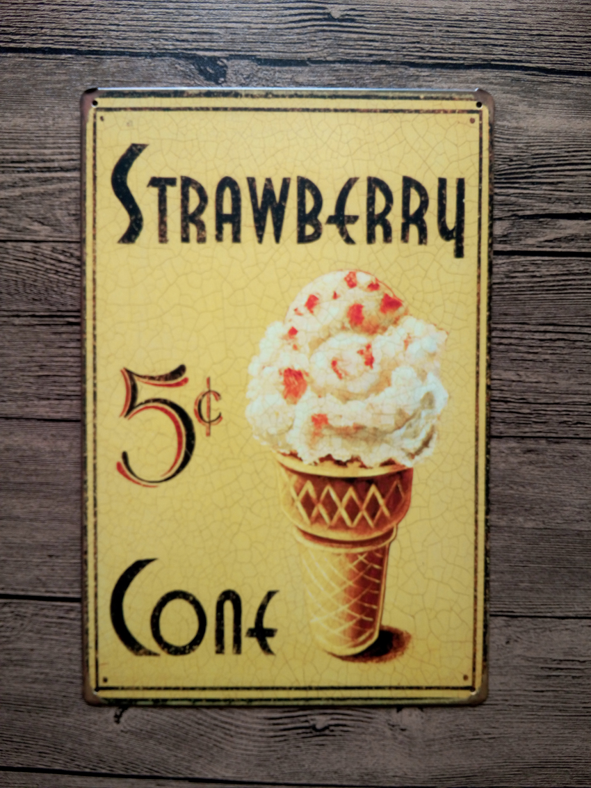 New 2015 about ice cream food metal tin signs vintage for Plaque metal cuisine