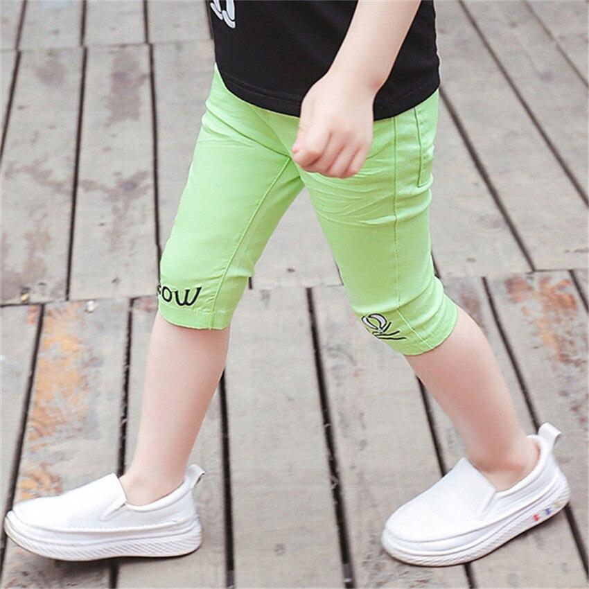 2-8 jaar kinderen meisjes capri leggings zomer meisje broek - Kinderkleding - Foto 4
