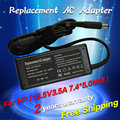 18.5 v 3.5a 7.4*5.0mm 65 w substituição para hp pavilion dv4 dv5 dv6 dv7 laptop ac power adapter carregador frete grátis