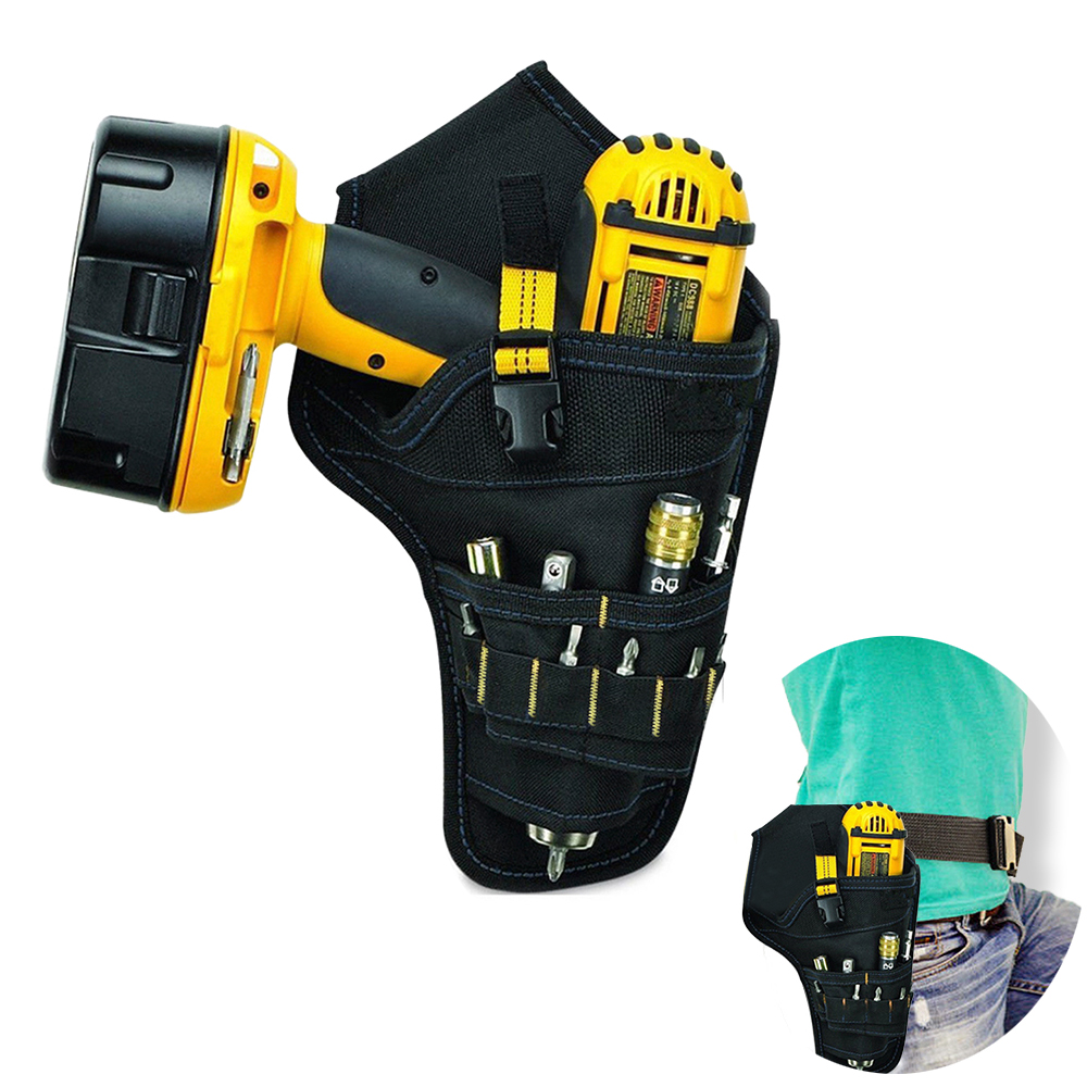 Multi-functional Electric Tool Bag Impact Driver Drill Holster Waist Tool Bag Pouch Bag For Wrench Hammer Screwdriver
