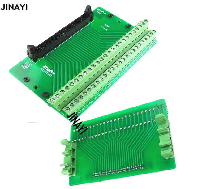 IDC 50 Pin IDC50P Male Terminal Block Breakout  PLC Relay Terminals DIN Rail Mounting Adapter Connector