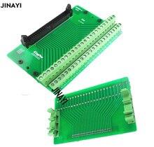 IDC Terminal macho IDC50P de 50 pines, Terminal de relé PLC de rotura, conector adaptador de montaje de Riel DIN
