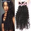 3 Bundles Brazilian Deep Wave Virgin Hair 8A Brazilian Virgin Hair 100% Unprocessed Human Hair Bundles Deep Wave Brazilian Hair
