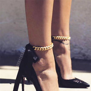 ZCHLGR Anklets Beach-Accessories Vintage Women Golden Jewelry Link-Chain for Fashion