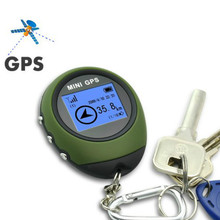 Vehicle Outdoor Sport Handheld Keychain Mini GPS Tracker Tracking Device Travel Portable Keychain Locator Pathfinding