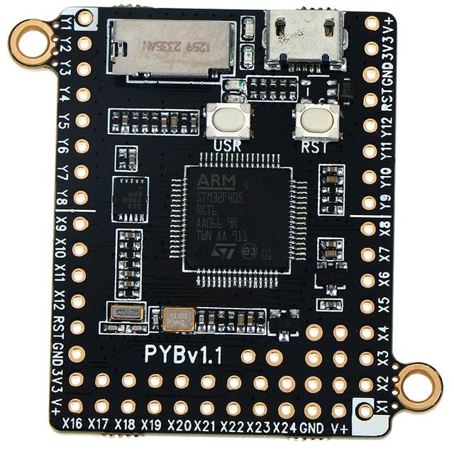 1 piezas MicroPython Pyboard V1.1 de programación Python Placa de desarrollo 4,2*3,3 cm