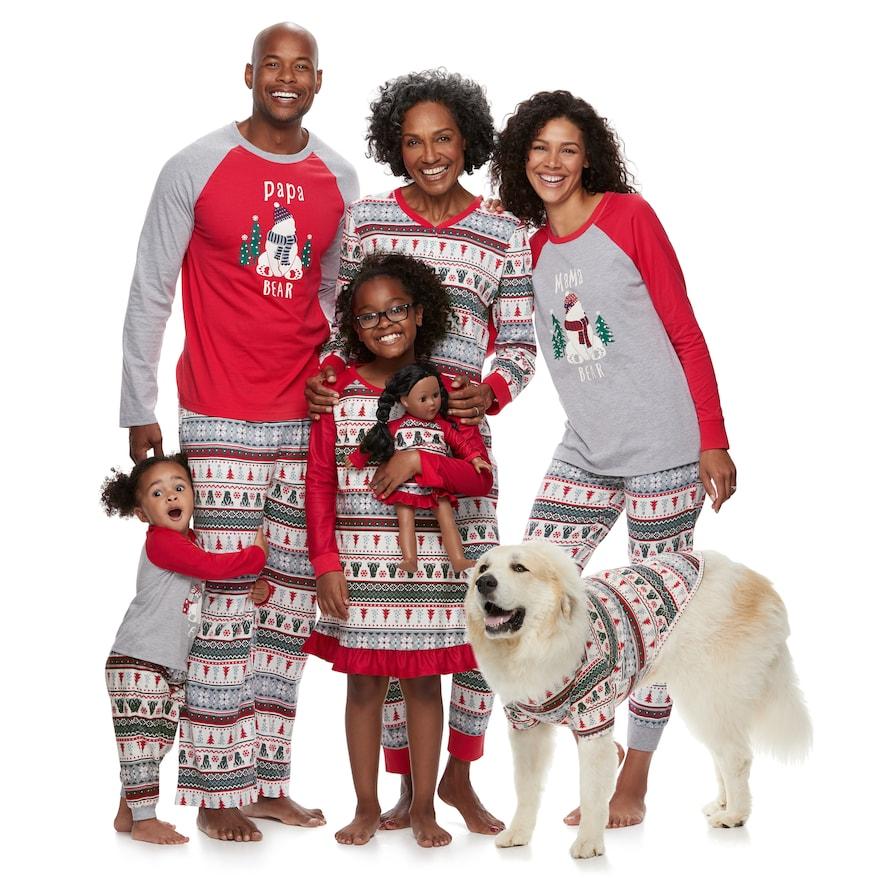 Puseky Christmas Family Matching Clothes Xmas Tree Bear ...