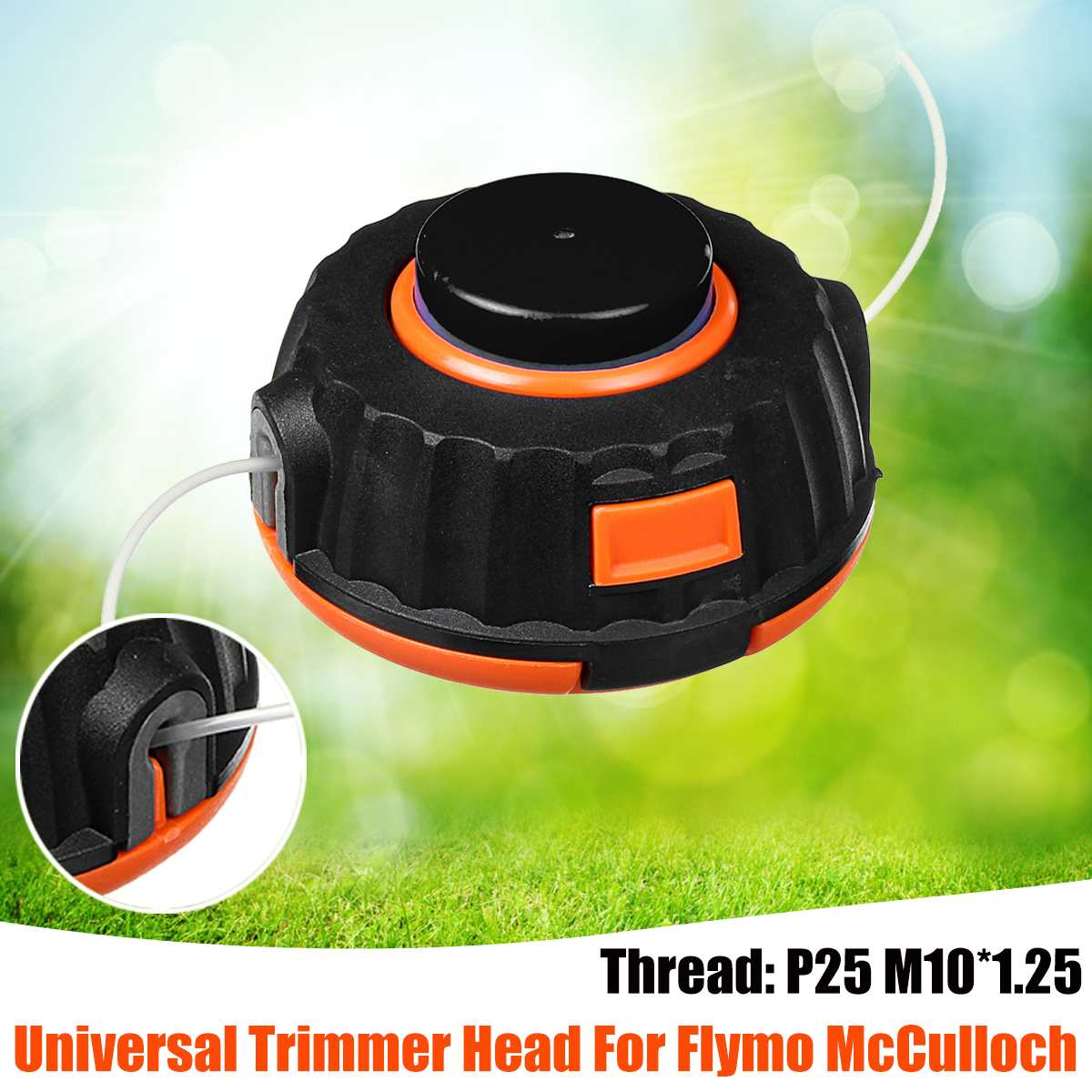 New Universals M10 Grass Trimmer Head Strimmer Line Saw Grass Brush  For Lawn Mower Cutter Accessories For Flymo McCulloch Parts