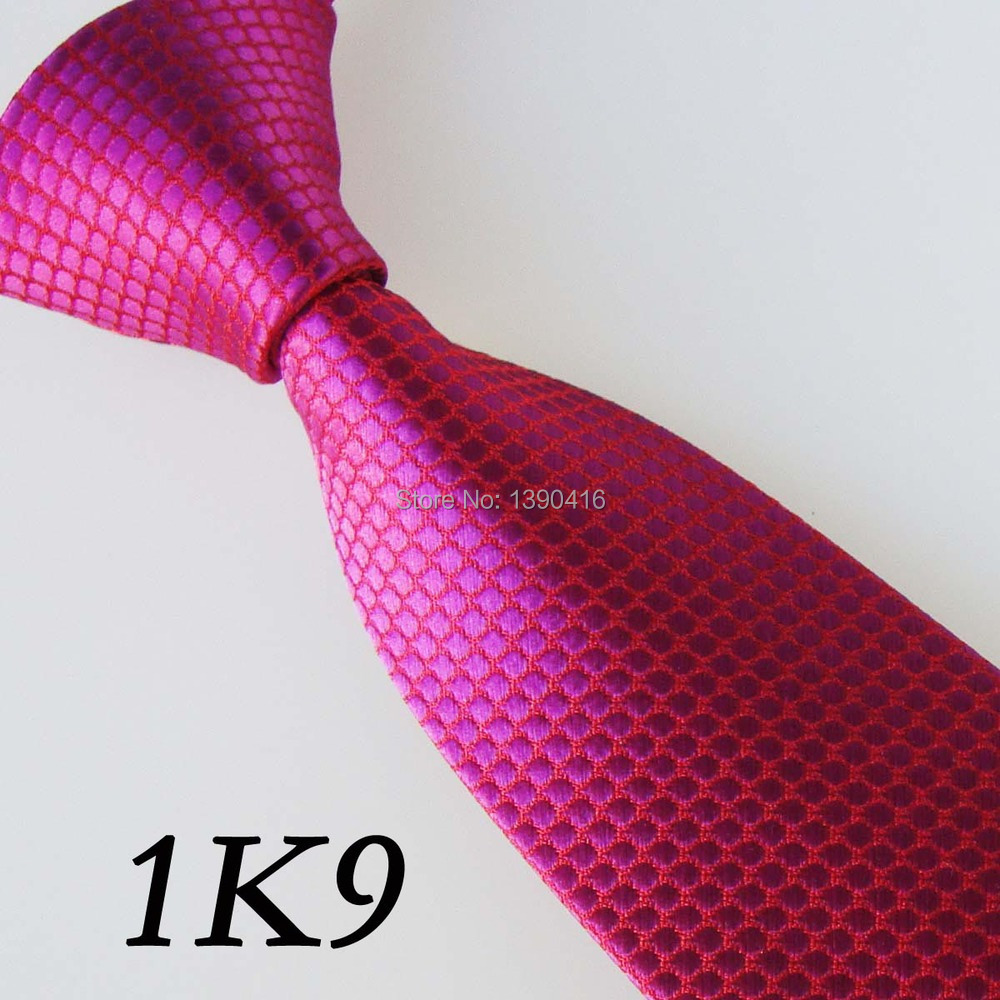 XINCAI Heavy discount ! High sales ! New style Narrow Neckties Red Solid Color Dot Desig ...