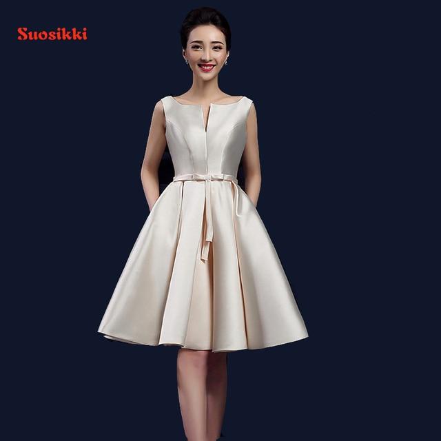 2017 new design A-line short dresses V-opening back cocktail party lace-up dress veatidos de festa Hot sale free shipping