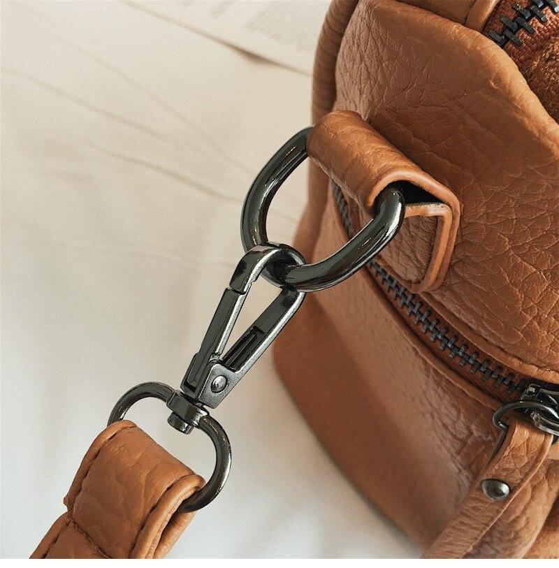 Vintage Rivet women Handbag Matte leather Boston Big Tote bag Winter new Shoulder Bags for Women Messenger Bag Blosa Sac (4)