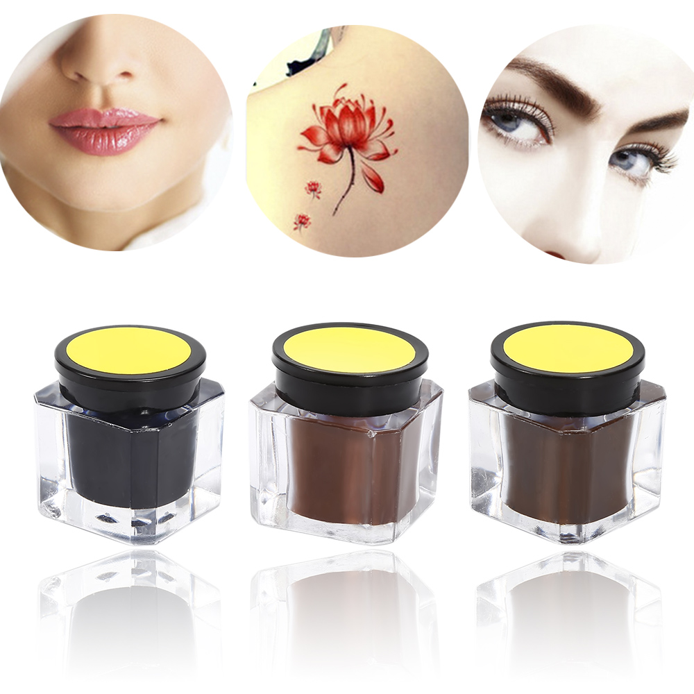 15g Eyebrow Tattoo Practice Ink Pigment Manual Eyebrow Pigment Tattoo Inks Pigment For Beginners Tattoo Accessories TSLM2