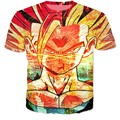 New Fashion Dragon Ball Z Super Saiyan t shirts Vintage Style Vegeta 3D t shirt Women Men Summer Casual tshirts tees