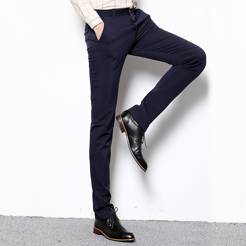 2017 Men Dress Pants Plus Size 28 38 Formal Pants Slim Fit Pants ...