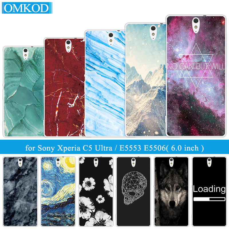 "Marble Phone Case For Sony Xperia C5 Ultra Cover Silicone 6.0"" For Sony C5 Ultra dual E5553 E5506 E5533 for Sony C5 Ultra Capa"