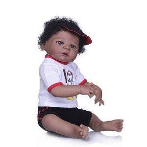 Image 4 - NPK muñecas Reborn realistas de silicona para niñas, muñecos de bebé de estilo de pelo bonito