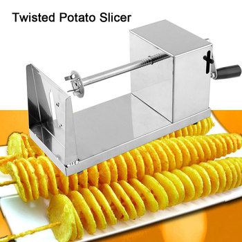 Manual Slicer Steel Potato Slicer Cutter Potato Slicer Tool Potato Tornado Cutter Stainless Steel Vegetable Cutter Cooking Tool 건달 조폭 옷