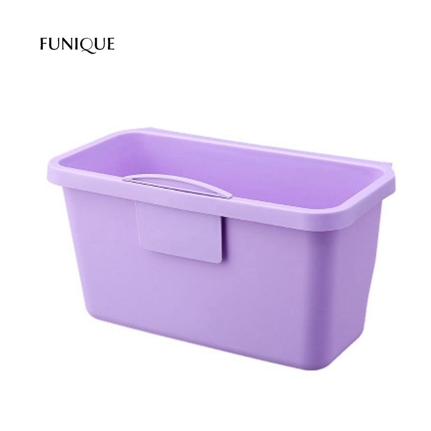 FUNIQUE Purple New Creative Buttoned Sink Storage Hanging Basket Kitchen Racks Bathroom Racks Storage Basket Trash Can