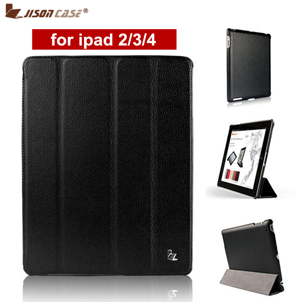 Jisoncase Brand Case For Ipad 2 3 4 Leather Pu Protective Rotating 360 Degree Smart Cover New Free Shipping Covers Cases