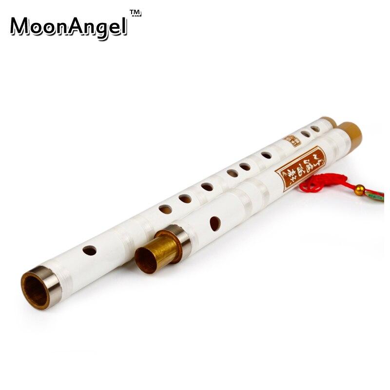 El Color del Wihte Flauta Instrumento Musical Flauta De Bambú Dizi Chino