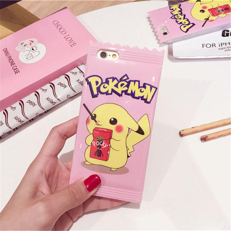 Candy Pocket Pokemon Cover Case For iphone 7 8 6 6s Plus 1