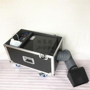 Image 3 - 1 шт./лот, бесплатная доставка, небольшая противотуманная машина на водной базе мощностью 3000 Вт, дымовая машина с туманом и шлангом на выходе