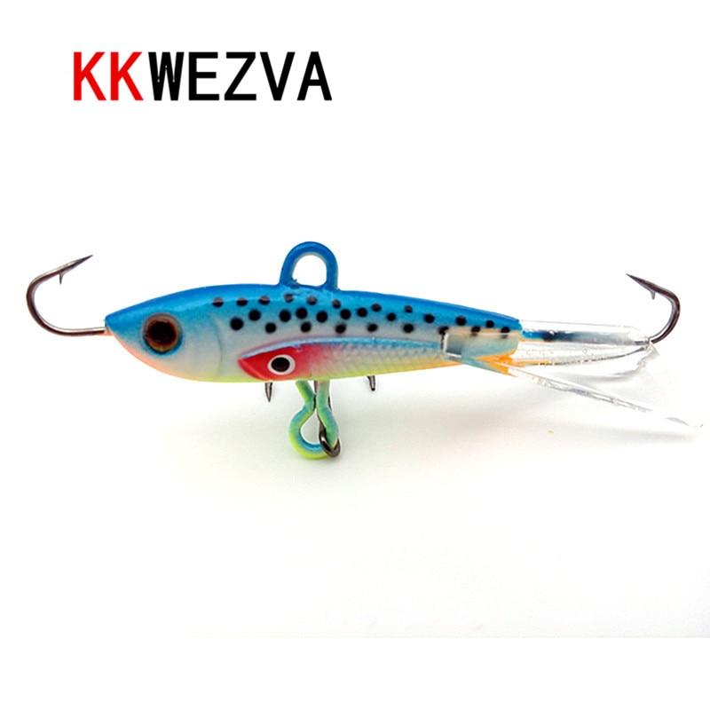KKWEZVA 1 unid 60mm 10g Pesca de invierno Pesca en el hielo Duro Cebo Minnow Pesca Isca Cebo Artificial Crankbait Swimbait 190