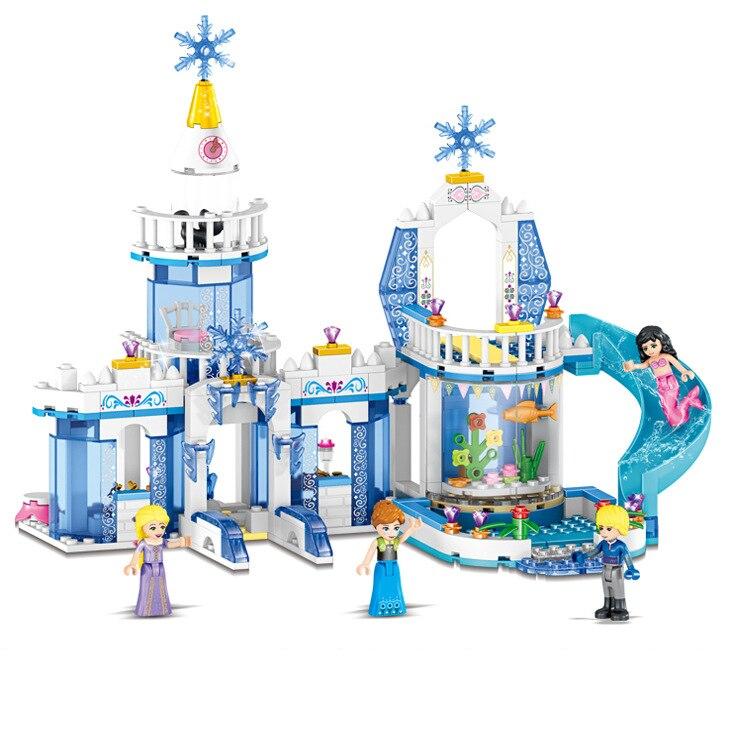 316pcs Color Dream Princess Elsa Ice Castle Princess Anna Set Model Building Blocks Gifts Toys Compatible lepin Girls Friends женские часы diesel dz5428