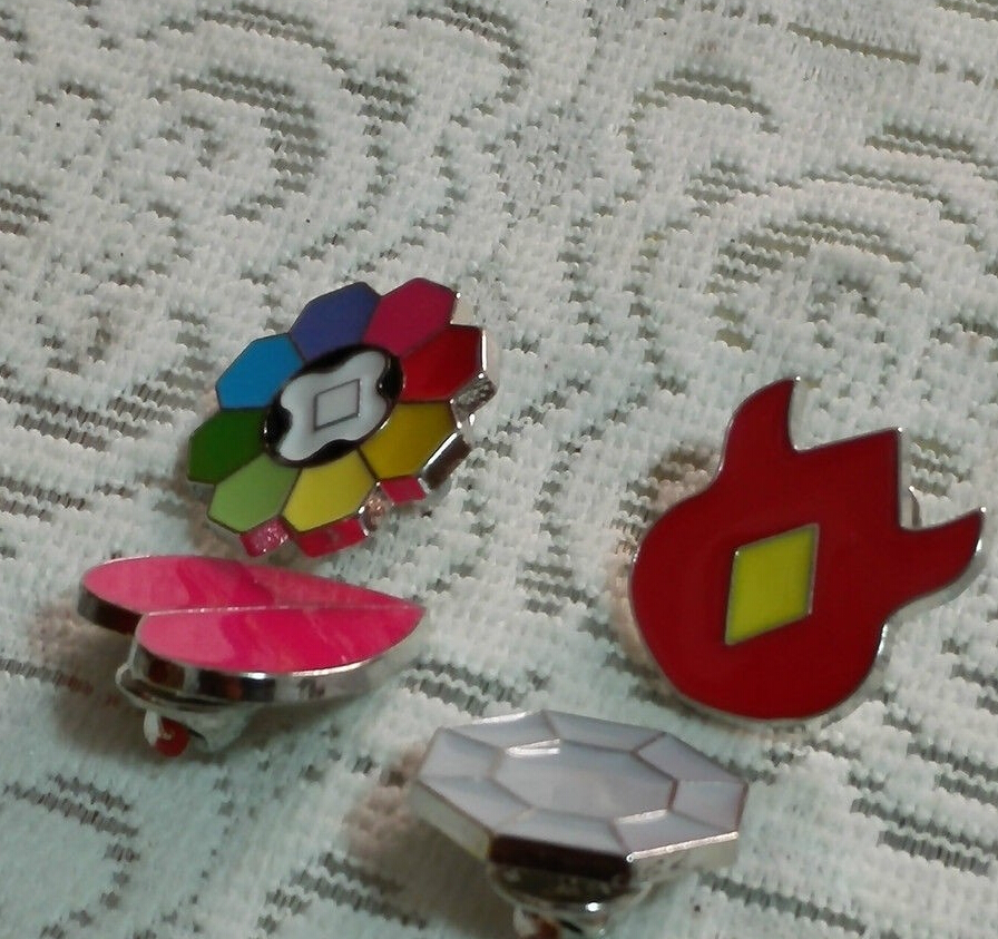 Pokemon Kanto 8 Metal League Gym Badge Pin Pip Gen 1 Cosplay Prop Collection Set