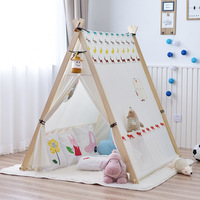 Children's Tent Factory Direct Wholesale Princess Small Tent Toy Game House Indian Tent Triangle Playhouse for Kids