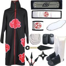 22fdf0de83660 Adulto Unisex personaje de dibujos animados conjunto completo Akatsuki  Cosplay disfraz de Naruto Shippuden Anime