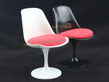Mini Tulip Chair Furniture For Barbie Blythe BJD Dollhouse Miniature 1:6 Black White Simulation Furniture Pretend Play