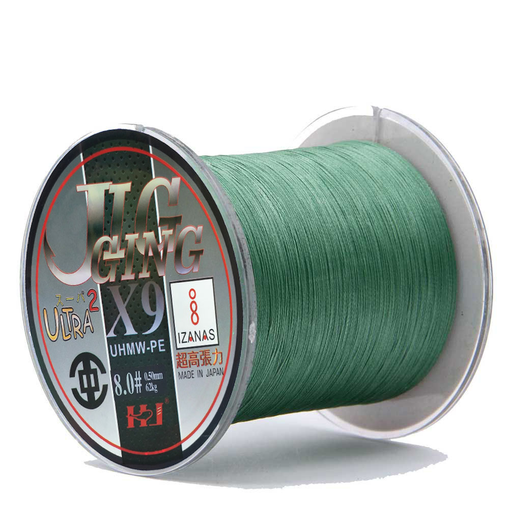 FishingLife 500M/1000M 9 Strands Braided Fishing Line Spiral Braide Tech. Multifilament PE Multicolored 10-140LB Sea Ocean