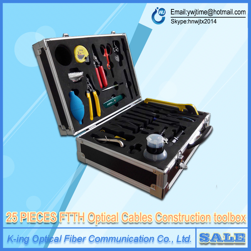 25 PIECES FTTH Optical Cable Construction Toolbox FTTH construction kit Cable kit Fiber Toolbox