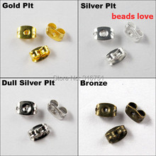 (500Pcs/lot )Pick 4 Colors Earring Finding Earrings Back Stoppers Charms 6x4x3MM Free Shipping(w02914)