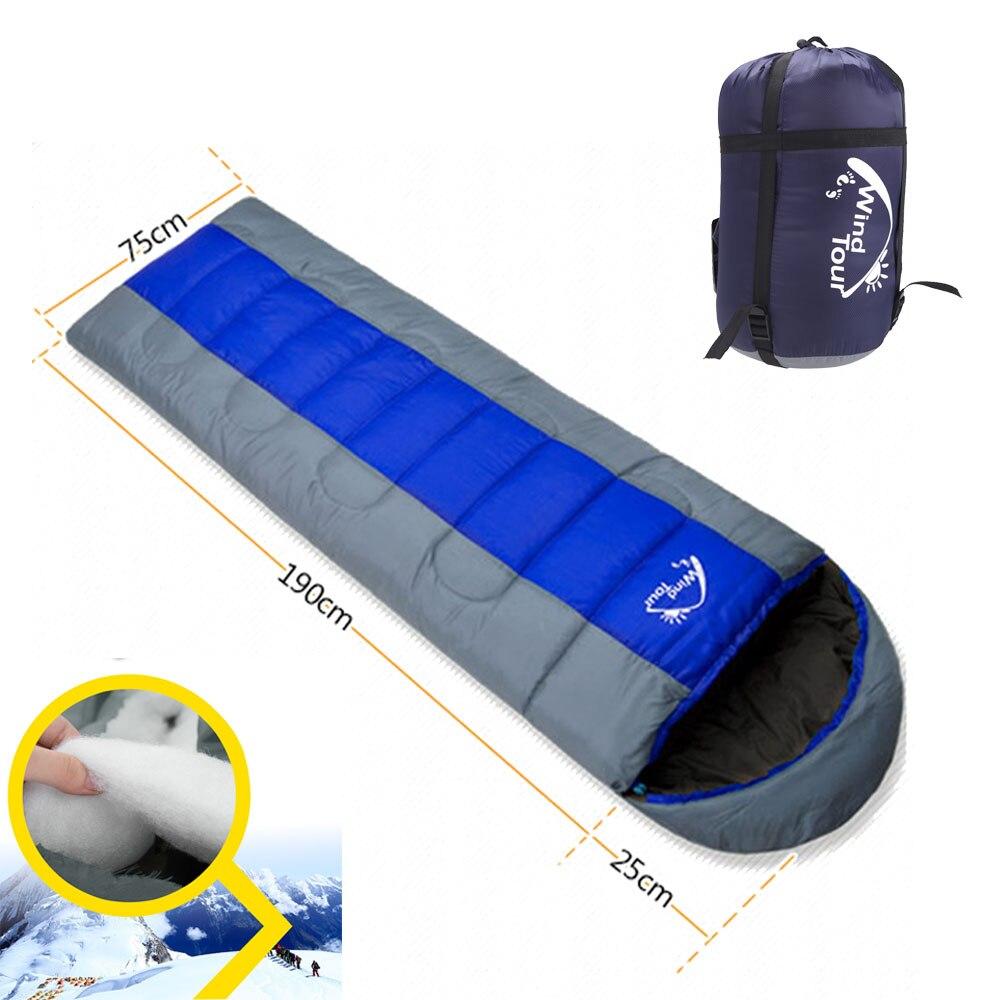 Wind Tour Sleeping Bag Camping Envelope Sleeping Bag Thermal Adult Winter Sleeping Bag Outdoor Travel Waterproof Sleeping Bed