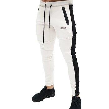 e38af1f0b55 ZOGAA Новый Для мужчин s Фитнес Штаны полной длины Повседневное тонкий бег  тренировочные брюки спортивные тренировочные Мужские штаны для бег.